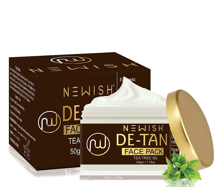 Newish De- tan Face Pack for Skin Brightening