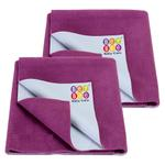 BeyBee- Dry Sheet for Single Bed Combo Pack of 2 Rani Pink (Each Size : 100 cm x 140 cm)