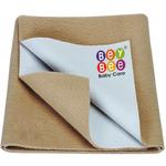 BeyBee Quick Dry Baby Bed Protector Waterproof Sheet - Large (Beige)