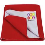 BeyBee Premium Quick Dry Mattress Protector Baby Cot Sheet (Small, Red)
