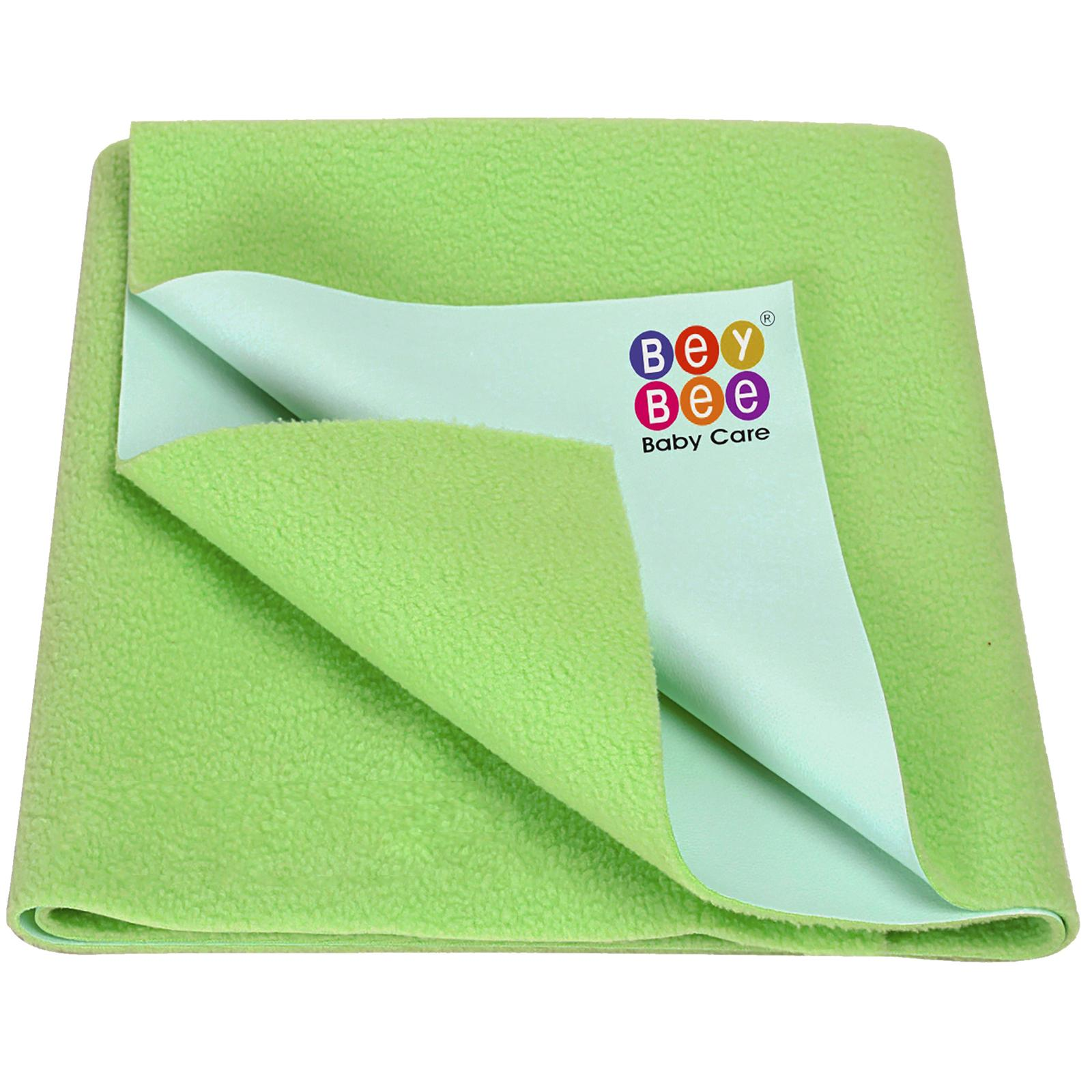 BeyBee Premium Quick Dry Mattress Protector Baby Cot Sheet (X-Large, Light Green)