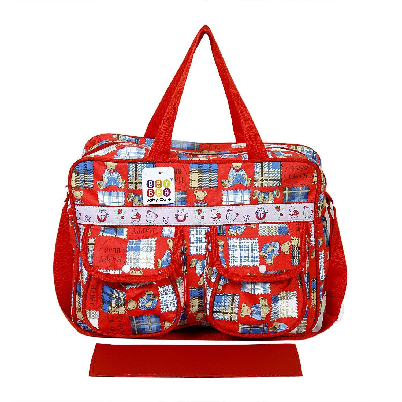 BeyBee - Mama's Bag {Diaper Bag} - 15 Ltrs (Red) {Happy Bear}