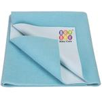 BeyBee Premium Quick Dry Mattress Protector Baby Cot Sheet (Large, Sea Blue)