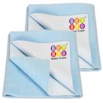 BeyBee Premium Quick Dry Mattress Protector Baby Cot Sheet (X-Large, Blue)
