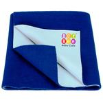 BeyBee Just Dry Baby Care Waterproof Bed Protector Sheet - Medium (Royal Blue)