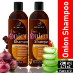 Newish Red Onion Shampoo For Hair Growth and Hairfall Control (Pack of 2)