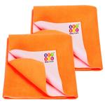 BeyBee Dry Sheet for Adults and Elderly Patients (Peach, Each Size: 100 x 140 cm) -Combo Pack of 2