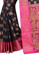 Self Design Banarasi Polycotton Saree