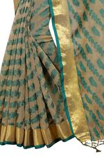 Embroidered, Checkered Bollywood Polly Cotton Saree