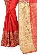 Self Design Bollywood Cotton Silk Saree