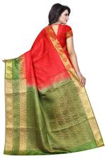 Printed Banarasi COTTON SILK Saree (Rama)