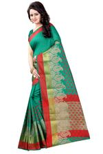 Self Design Banarasi Polly Cotton Saree