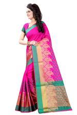 Self Design Banarasi Polly Cotton Saree