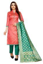 Brocade Self Design Salwar Suit Material  (Unstitched)