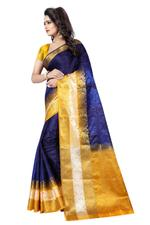 Woven Kanjivaram Cotton Silk Saree