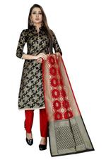 Brocade Self Design Salwar Suit Material  (Unstitched)