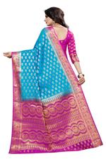 Woven Banarasi Polly Cotton Saree