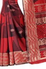 Self Design Banarasi COTTON SILK Saree (Pink)