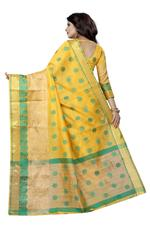 Woven Kanjivaram Cotton Silk Saree