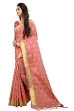 Embroidered, Checkered Bollywood Polly Cotton Saree