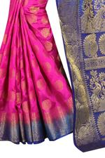 Self Design Kanjivaram Cotton Silk Saree