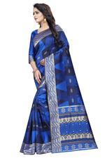 Self Design Banarasi COTTON SILK Saree (Magenta)