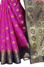 Self Design Banarasi Cotton Silk Saree
