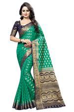 Woven Banarasi Polly Cotton Saree