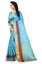 Self Design Banarasi Cotton Silk Saree