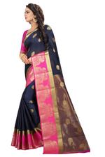 Self Design, Embellished Kanjivaram Cotton Silk Saree