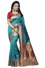 Self Design Banarasi PolyCotton Saree