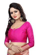 Self Design Kanjivaram Cotton Silk Saree