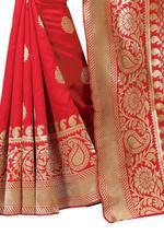 Self Design Kanjivaram Poly Silk Saree