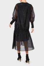 Black Layered Organza Dress