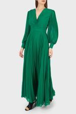 V-Neck Shirred Gown