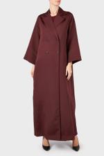 Burgundy Four-Piece Trench Abaya Set