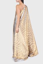 Asymmetrical Flare Cape Gown