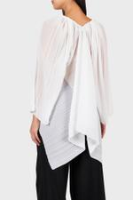 Kemper Striped Pleated Top