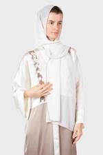 Shoulder Detail Silk Abaya