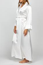 The Bride' - Long White Satin Robe