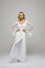 Morning Glory Bridal Lace Nightdress & Robe Set - White