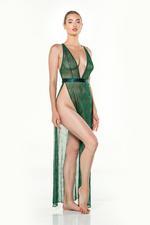 Full lace Long Nightdress - Green