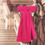 THE ROMAN BATH TOWEL FUSHIA