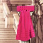 The Roman Face Towel Fushia