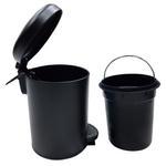 Leman Black Pedal Bin