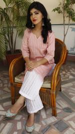 Flamingo Pink Kurta Set