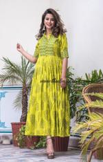 So green maxi dress