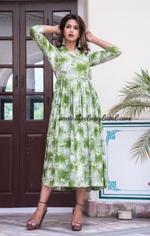 Rayon Angrakha Maxi Dress