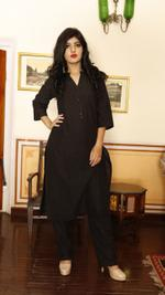 Black Chikan Kurta Set