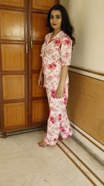 Floral Three Piece Night Suit